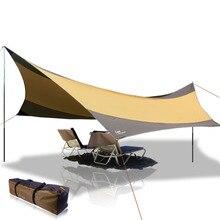 Flytop 5-8 personas 550*560 cm a prueba de lluvia playa pesca dom refugio toldo toldo de lona al aire libre camping park pérgola dosel tienda de campaña