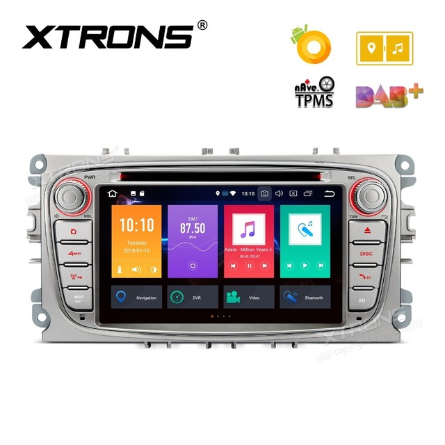 7 Android 8 0 OS Car DVD font b Multimedia b font Navigation GPS Radio for