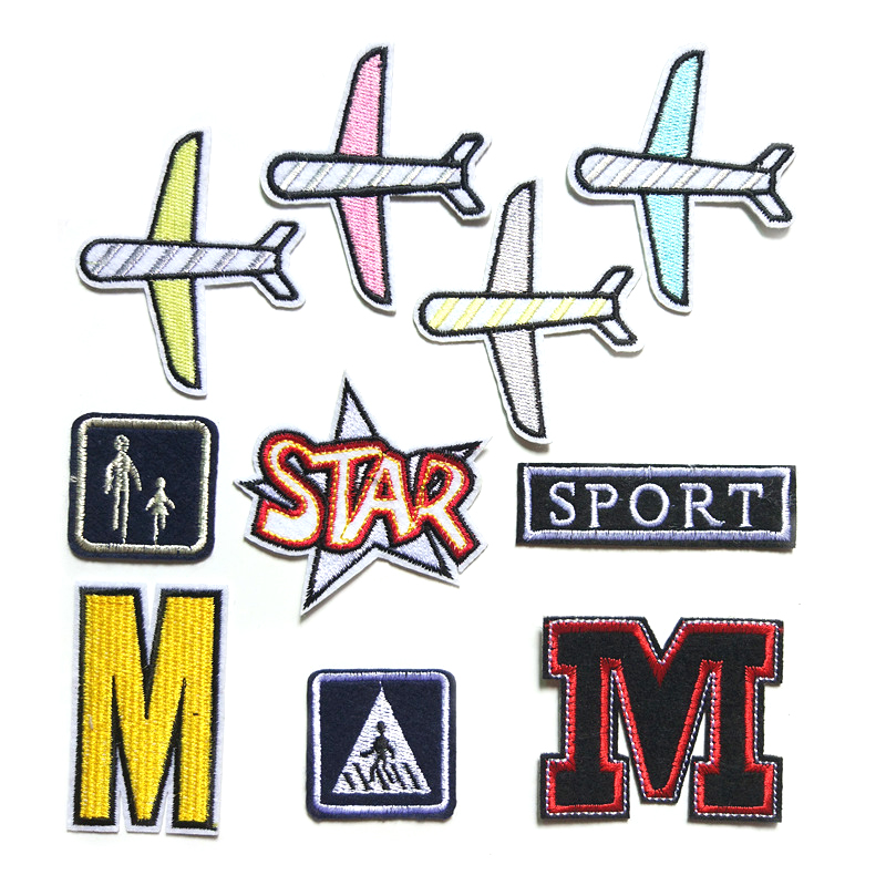 2018 Letter Embroidery Patches Airplane Decoration Fine clothes Pants and hats patch D-002