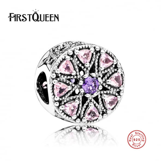 FirstQueen 100% 925 Cuentas de Plata Esterlina. Shimmering Cuentas Medallón Encantos Ajuste Pulsera Original. Auténtico Fine Jewelry Making