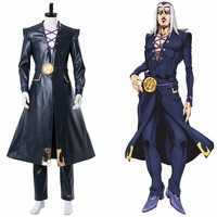 JoJo's Bizarre Adventure Cosplay Golden Wind Leone Abbacchio Cosplay Costume Uniform Halloween Carnival Costumes Customizable