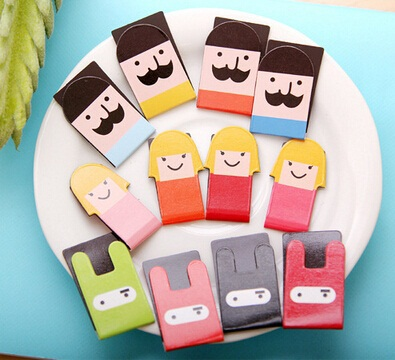 4pcs/lot Korea   MR.Mustache & Girl DIY Magnetic Bookmark Set School Office Supply Escolar Papelaria Gift Stationery