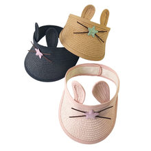 Summer Baby Adjustable Straw hat thin boys girls Princess Kid Child Sun Cute Protection Cap Beach Shade Empty Top hat 1-4 Yeras(China)