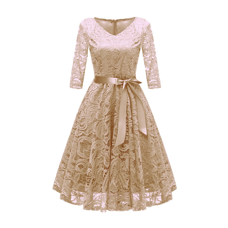 Image 3 - Autumn Homecoming Dresses CG00116 New Arrival Winter Lace A line V neck Cheap Short Cocktail Party Dresses with SleevesHomecoming Dresses   -