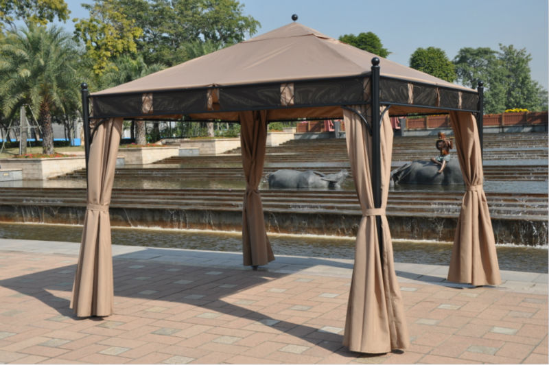 3*3 meter high quality outdoor gazebo tent patio shade pavilion garden canopy rain protection furniture house with sidewalls 3 3 6 meter pc board high quality durable garden gazebo grace outdoor tent canopy fashion aluminum sun shade pavilion