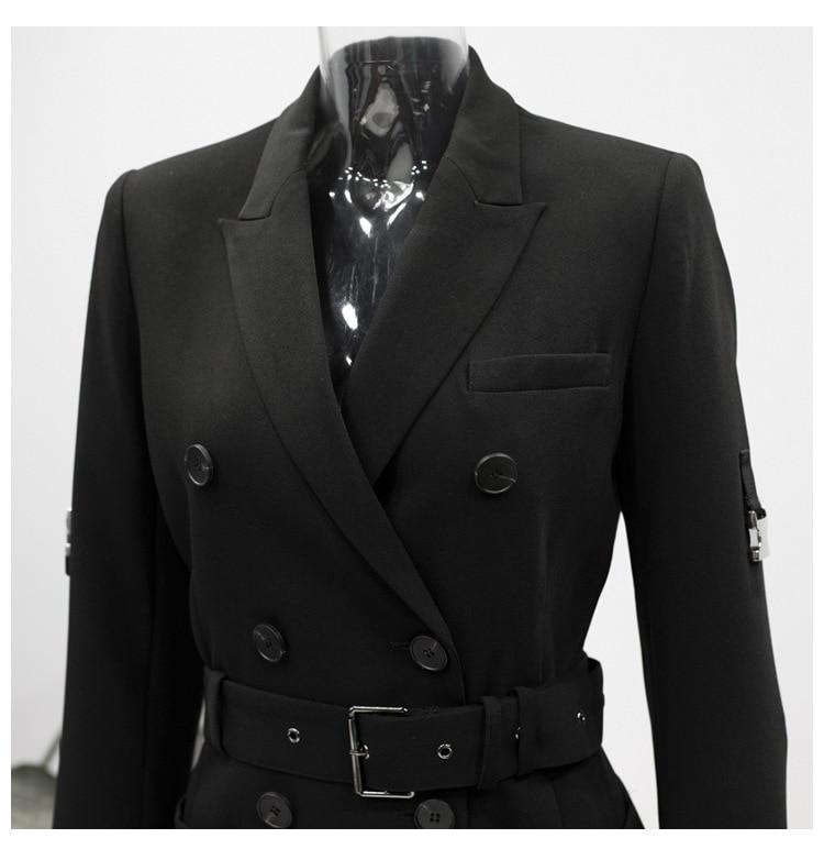 Mince Costume Coton Sélections Top Rouleau Les Femmes Blazer Automne Breasted À En Black Getsring Manteau Toutes Up Double Blazers Longues Dentelle Dames Manches AqWgxZ4pw