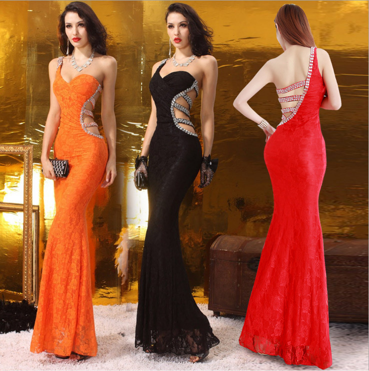 One shoulder Sleeveless Sexy big ass evening dress with open back long في One  shoulder Sleeveless Sexy big ass evening dress with open back long من  فساتين ... 7e6955a29851