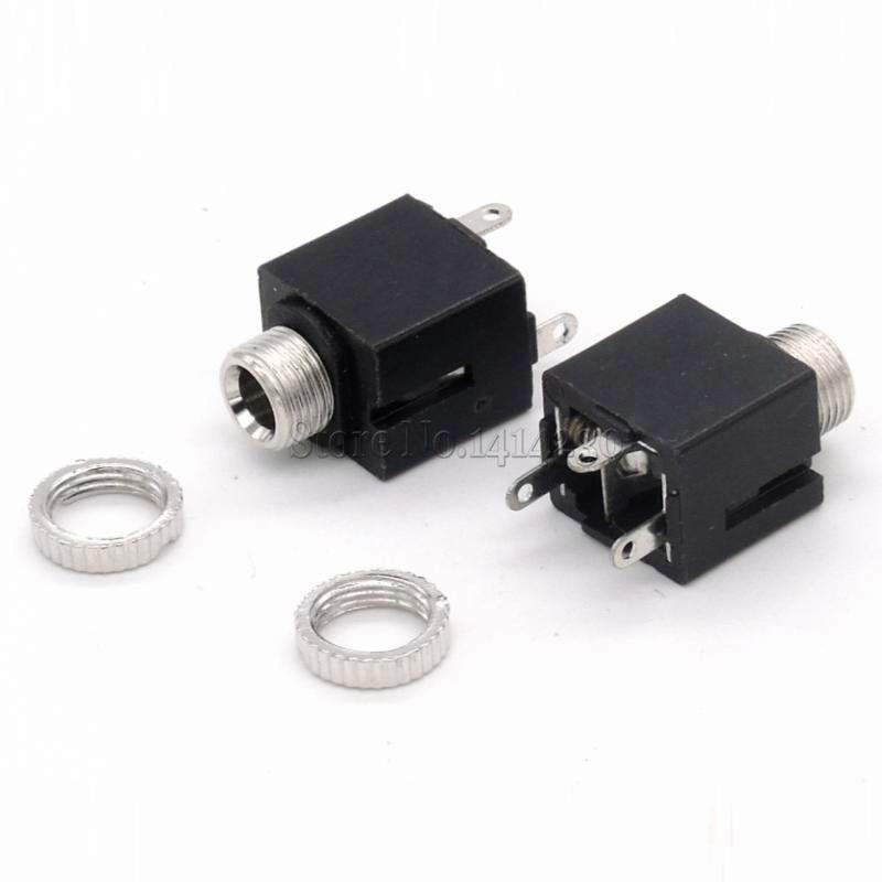 10Pcs PJ-301CM 3.5MM Headphone Plug Dual Channel Audio Video Welding Line For Headphone Socket