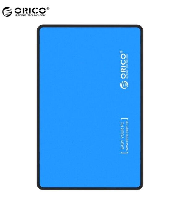 ORICO 2588US3-V1 2.5 Polegada SATA para USB 3.0 Tool-Free Gabinete Externo/Case para 9.5mm & 7mm SATA HDD SSD-Azul