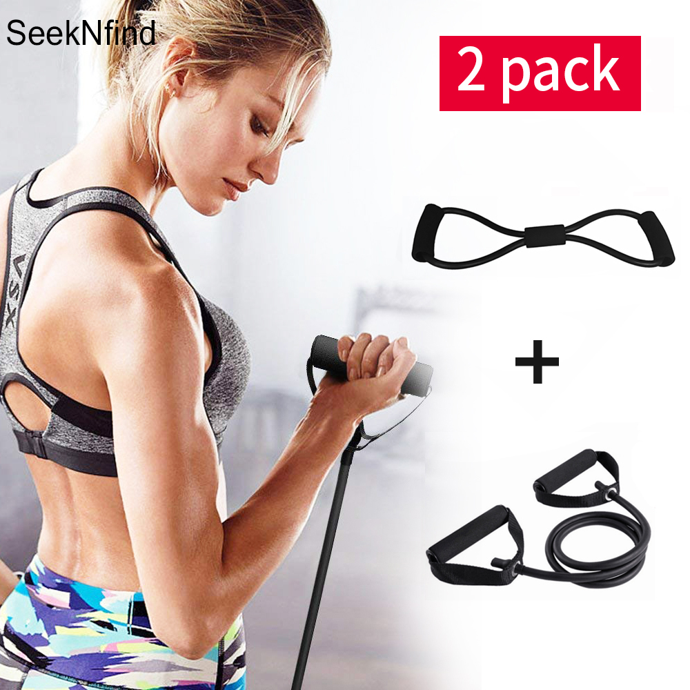 1+8 Word Type Set Elastic Pull Rope Yoga Rubber Tensile Resistance Bands Chest Developer Expander Exercise Tubes Fitness Band