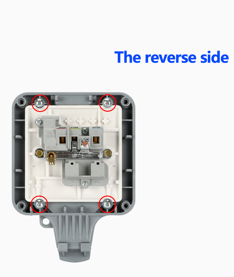 Image 3 - Weatherproof Electrical outlet power socket waterproof outdoor gounded wall socket IP66 16A-in Electrical Sockets from Home Improvement
