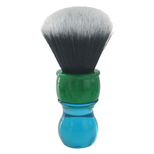 dscosmetic 26mm tuxedo synthetic hair shaving brush with  resin handle