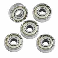 BOFO 626Z 6mm x 19mm x 6mm Shielded Radial Miniature Deep Groove Ball Bearing 5 pcs