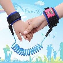 1 pic 1.5 M Anti-perdido corda de proteção suprimentos de segurança para crianças anti-perdidos trecho pulseira de Protecção das crianças relógio Bebê TXB18