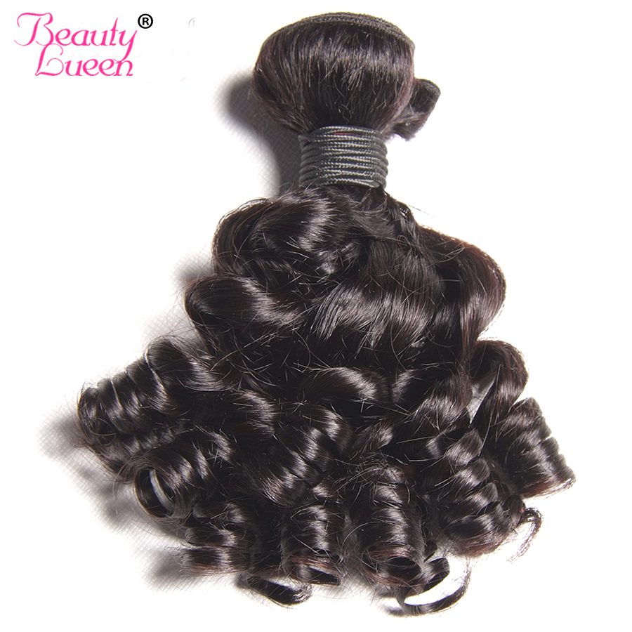 Curly Weave Human Hair Bundles Brazilian Hair Weave Bundles Non Remy Weave Bob Short Hair Extension Can Be Dyed Beauty Lueen