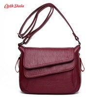 New Vintage Women PU Leather Handbags Ladies Elegant Charming Soft Bag Unique Designer Female Shoulder Messenger