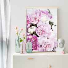 Cuadros Decoracion Salon Blush Pink Canvas Flowers Posters and Prints Painting Wall Art Scandinavian Picture For Living Room