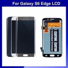 100% Первоначально Для Samsung S6 Edge G925 G925S G925F ЖК-Экран С Сенсорным Дигитайзер Ассамблеи Бесплатная Доставка