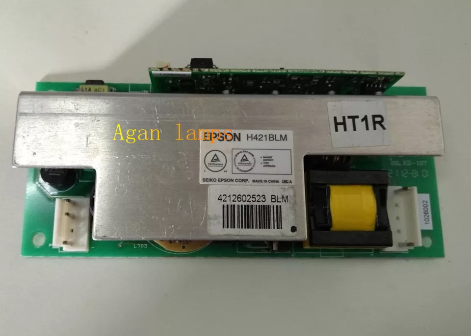 FIT Epson H421BLM ballast board HT1R for Epson EB-CS510Xi/EB-CS510XN/EB-CS520WN/EB-CS520W/EH-TW5900/EH-TW5910/EH-TW6000.... eb x03 eb x18 eb x20 eb x24 eb x25 eh tw490 eh tw5200 eh tw570 ex3220 ex5220 ex5230 projector for v13h010l78 elplp78 for epson
