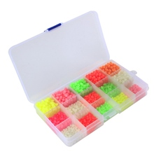 820PCS/LOT Luminous Beads Suit Fishing Space Beans round Float Balls Stopper light Balls sea Fishing Tackle lure Accessories