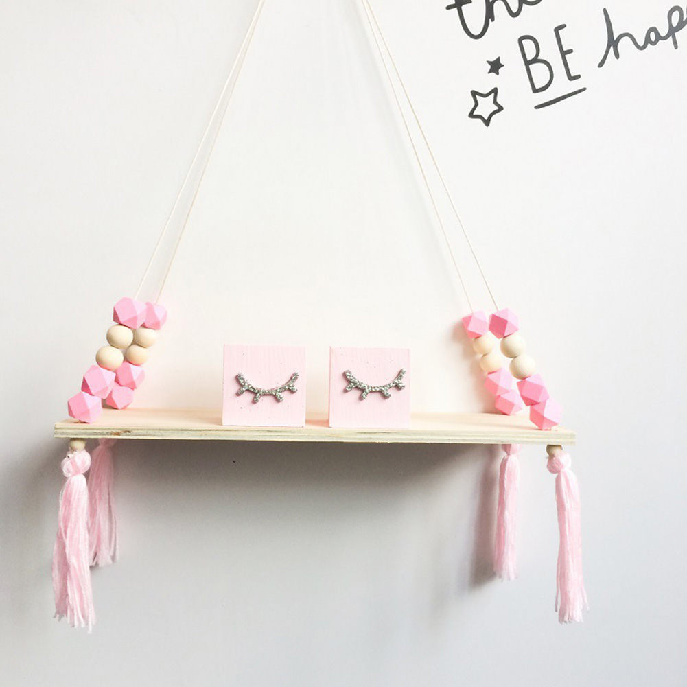 New Shelves Clapboard Wall Hanging Tassel Decoration Gifts Swing Rope For Children Room Party 2019YU-Home