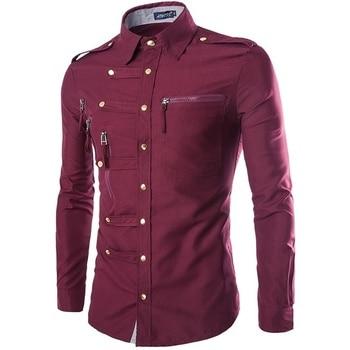 geek new men's shirt long sleeve fashion slim 1