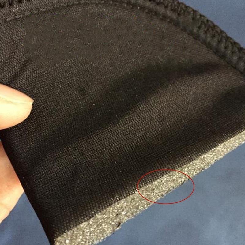Губчатая ткань Наплечная подушка мягкая белая черная губка пена для футболки одежда аксессуары для шитья Wh
