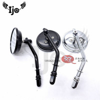 mini round chrome motorbike rearview mirror for harley motorcycle accessories 8MM 10MM universal scooter rear view mirrors moto