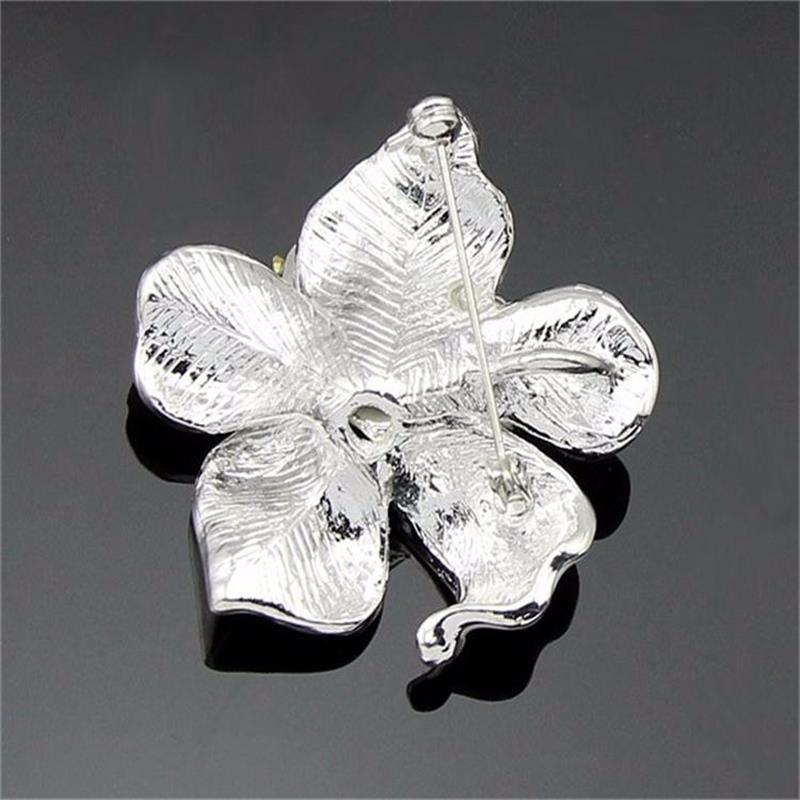 Meajoe Trendy Rhinestone Crystal Lily Flower Broches Rose Red Five - Bisutería - foto 3