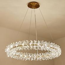 Lámpara de anillo de candelabro LED de lujo para sala de estar, candelabro LED moderno de estilo nórdico para hotel, restaurante, para niños
