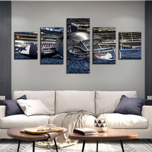 цена на 5 Panel Dallas Cowboys Canvas Prints Painting Wall Art NFL Sport Fans Pictures Modern Artwork Living Room No Frame Home Decor