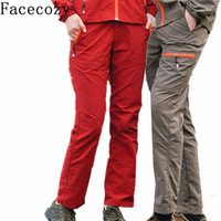 Facecozy Women&Men Outdoor Hiking & comping Pants Quick Dry Climbing Breathable UV Hunting Pesca Trousers Couple Plus Size 4XL