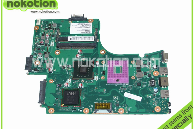 NOKOTION V000225070 Laptop motherboard for Toshiba Satellite C650 C655 1310A2355303 intel GM45 DDR3 Mainboard nokotion for toshiba satellite c850d c855d laptop motherboard hd 7520g ddr3 mainboard 1310a2492002 sps v000275280