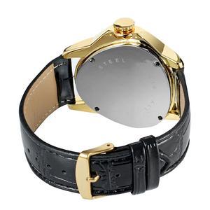 Image 5 - WINNER الموضة الإبداعية مثلث سطح كلاسيكي أسود الذهب ثلاثة مؤشر حزام الرجال ساعة معصم