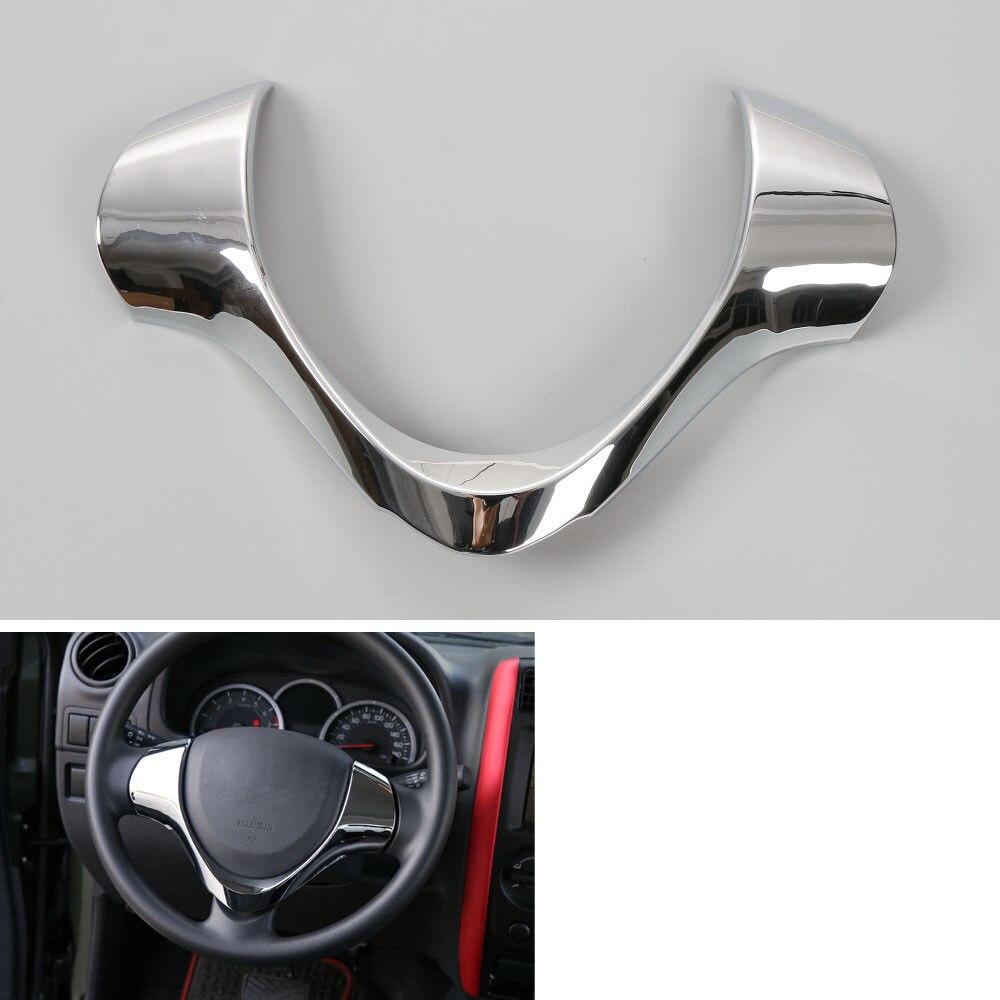 Pour Suzuki Jimny volant couverture garniture intérieur moulures décor Chrome ABS bâches de voiture accessoires 2012-2015 voiture-style