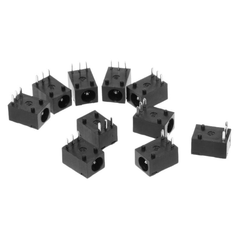 10pcs DC-003 3.5x1.3mm DC Power Jack Socket Connector 3-Pin Panel Mount Plug