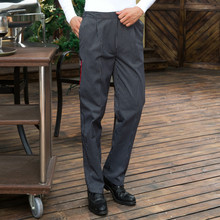 Restaurant Trouser Women Pants  Chef Uniform for Men Pants Kitchen Elastic Waist Bottoms Working Clothes Chef uniform