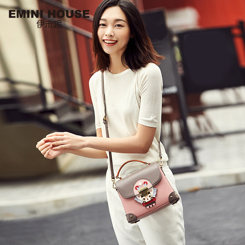 EMINI HOUSE Indian Style Luxury Handbags Women Bags Designer Split Leather Crossbody Bags For Women Messenger Bags Handbags