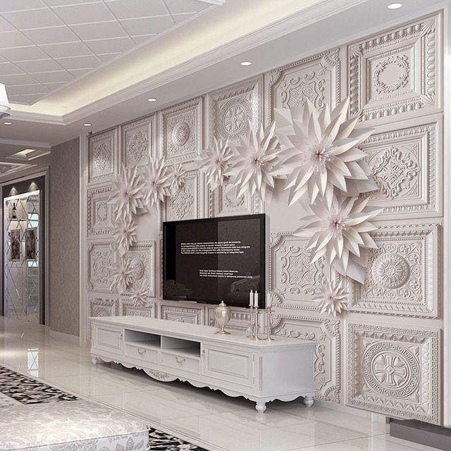 Simple Home Wallpaper Aliexpress  Buy Custom 3D Wallpaper Walls For Living Room .