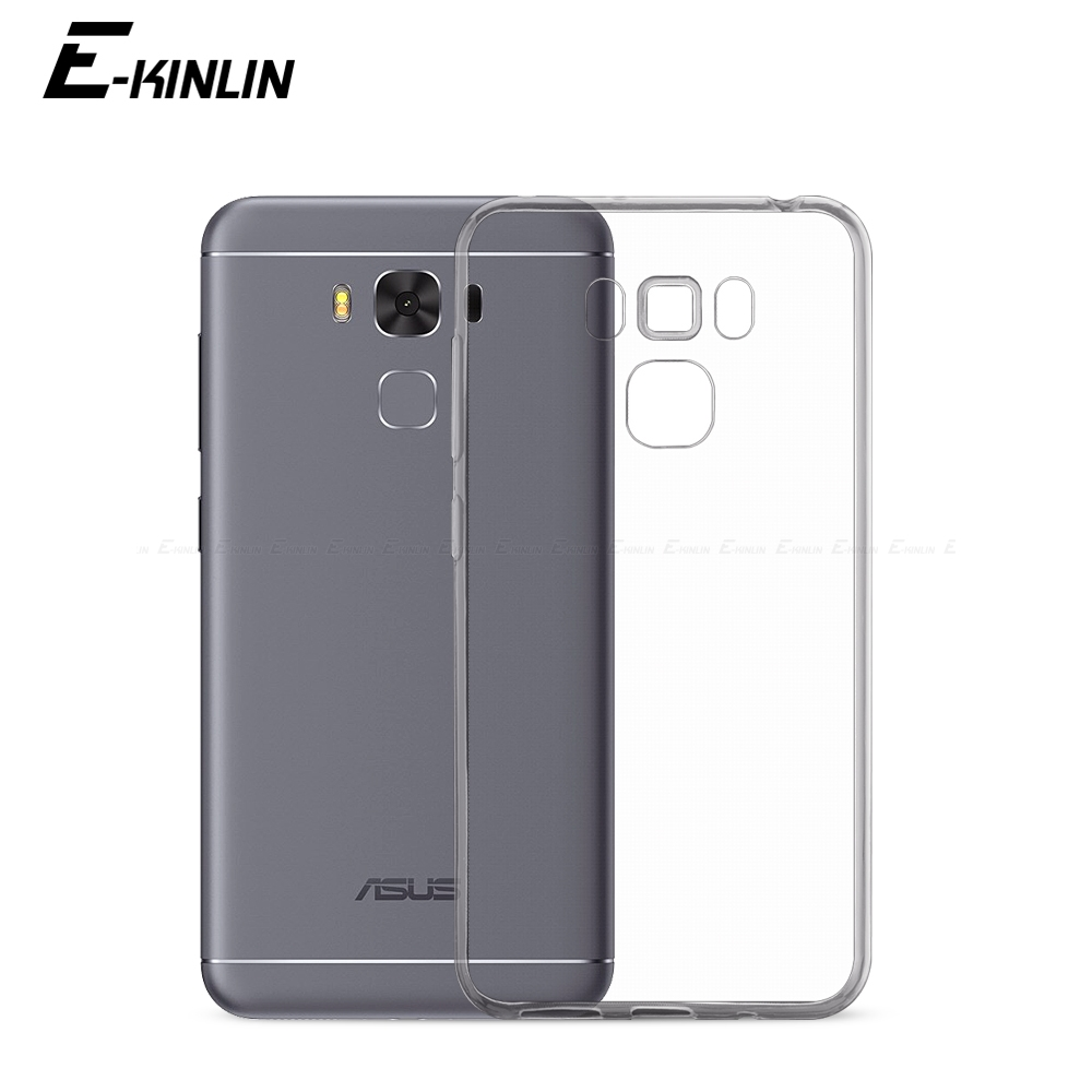 Ultra Thin font b Slim b font Clear Soft Protective TPU Case For Asus ZenFone 3