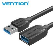 Vention USB3.0 تمديد كابل ذكر إلى أنثى USB2.0 تمديد سلك سوبر سرعة 3.0 USB موسع كبل مزامنة بيانات للكمبيوتر