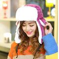 High Quality Winter Hats Men Women Faux Fur Ski Cap Ear Protect Trapper Hats Unisex Stripes Russian Bomber Hat