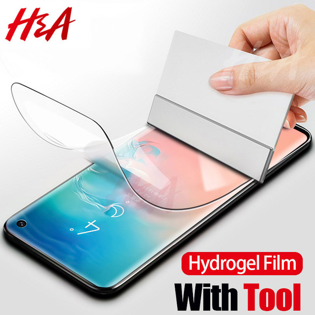 H & 5D מלא רך מסך מגן על לסמסונג גלקסי S10 בתוספת S8 S9 בתוספת S7Edge הערה 9 8 הידרוג 'ל סרט S10 לייט בתוספת סרט