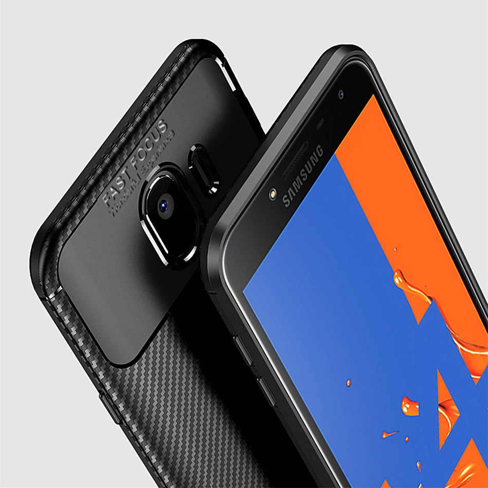 Thouport silicona caso para Samsung Galaxy J6 2018 J4 J8 casos cubierta de fibra de carbono a prueba de golpes a prueba TPU para Samsung J6 2018