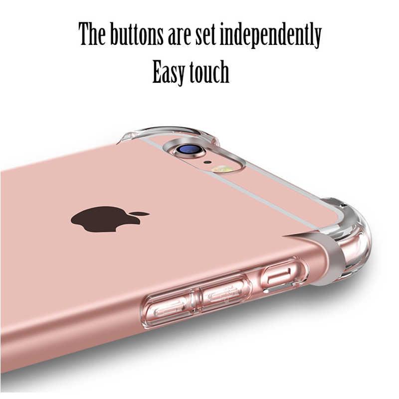2018 הצעה מיוחדת מכירה ישירה טלפון עבור Iphone 7 בתוספת אנטי לדפוק עבור X 5 5S Se 6 6 s 8 שקוף עבה רך Tpu חזרה כיסוי