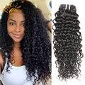 Перуанский Глубокая Волна 7А Перуанский Вьющиеся Волосы 3 шт. Необработанные Перуанский Девственные Волосы Вьющиеся Переплетения Человеческих Волос Puruvian Пучки Волосков