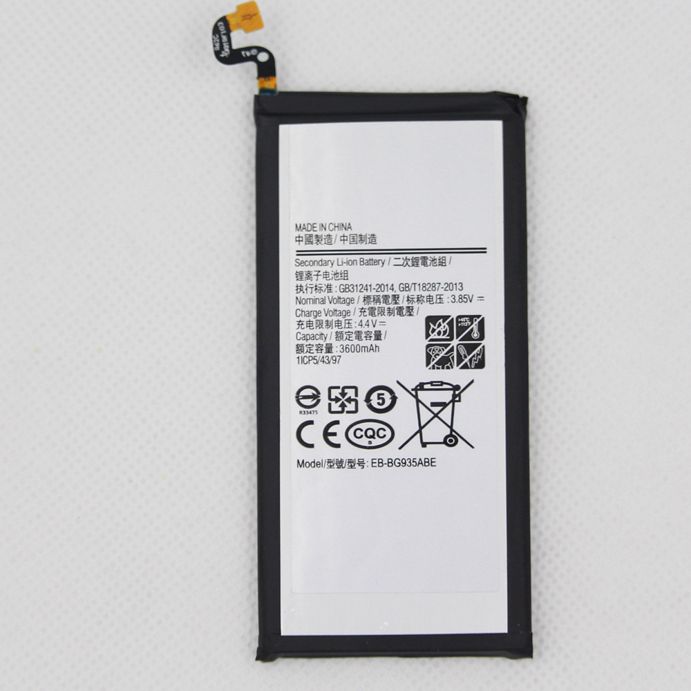 5pcs/lot 3600mAh EB-BG935ABE Battery For Samsung GALAXY S7 Edge <font><b>G9350</b></font> G935FD <font><b>SM</b></font>-G935F Battery Replacement image