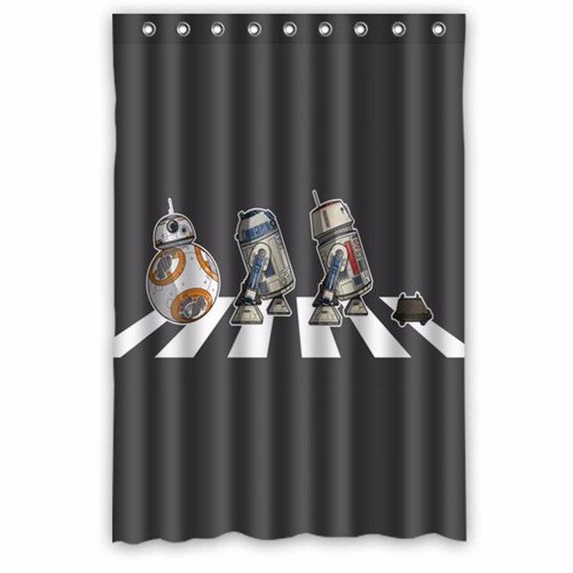 De Band Beatles Star Wars Custom Ontwerp Gordijn Stof Badkamer Bad ...