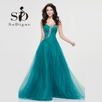 Beautiful Dresses for teens Turquoise Party Dresses Plus Size Lace-Up Sweetheart Crystals Vestidos Para Festa 2017 A Line shelf