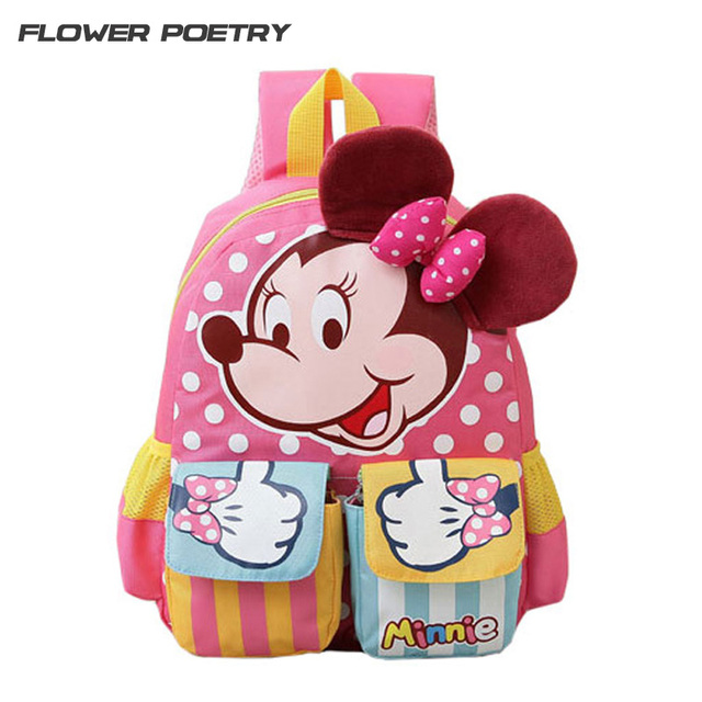 Cute Pink Cartoon Backpack Kindergarten Girl Character Lovely Baby